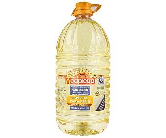 Capicua Aceite refinado de girasol alto oleico (especial para freir) Botella de 5 L