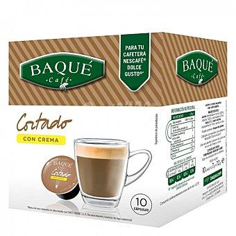 Dolce Gusto Nescafé Café cortado con crema en cápsulas Baqué compatible con 10 unidades de 7 g