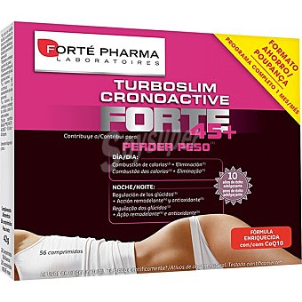 Forte Pharma Turboslim Cronoactive Forte 45+ contribuye a perder peso caja 56 comprimidos Caja 56 comprimidos