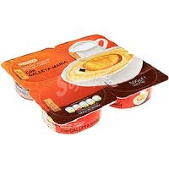Eroski Natillas con galleta 4 uds de 125 g