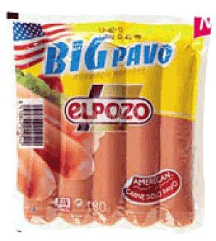 El Pozo Salchichas Big Pavo Sin gluten 180 g