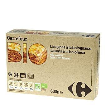 Carrefour Bio Lasaña boloñesa 600 g