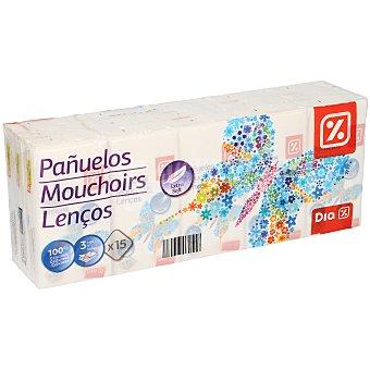 DIA Pañuelos mini blancos 3 capas Paquete 15 ud