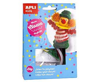 APLI Kit para construir un muñeco con forma de simpático payaso a base de materiales para realizar manualidades APLI