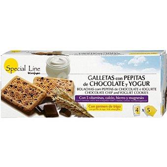 Special Line Galletas con pepitas de chocolate y yogur Envase 200 g