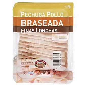 Hacendado Fiambre pechuga pollo braseada lonchas finas Paquete 200 g