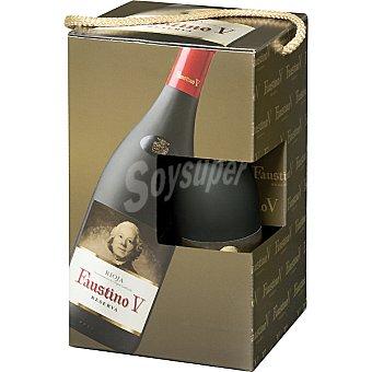 Faustino V Vino tinto reserva D.O. Rioja + dos copas Estuche 2 botellas 75 cl