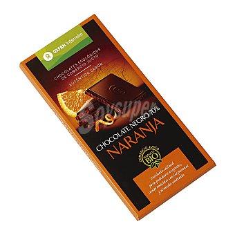 Intermón Oxfam Chocolate 70% Cacao Negro y Naranja 100 g