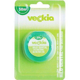 Veckia Hilo dental mentolado con flúor blister 50 m