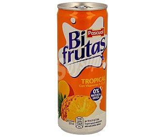 Bifrutas Pascual Bebida refrescante de leche y zumo de frútas tropicales (piña y mango) Lata de 250 mililitros
