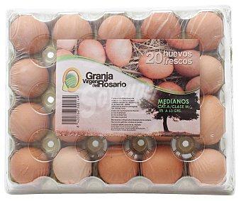 Rosario Huevos frescos de clase M y categoria A virgen DEL 20 uds