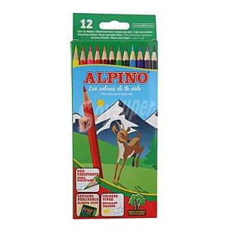 Alpino Estuche 12 Lápices Hexagonales 6,9 mm de Colores Surtidos 1 ud