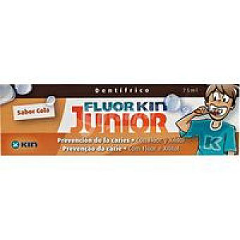 Kin Pasta de dientes de cola junior Tubo 75 ml