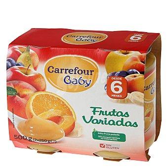 Carrefour Baby Tarrito frutas variadas Pack 2x250 g