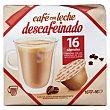 Café  con leche descafeinado Paquete 16 u Cocatech