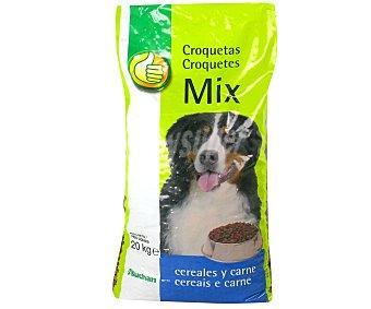 Productos Económicos Alcampo Comida Seca para Perro. Croquetas Mix de Carne Y Cereales Saco de 20 Kilogramos
