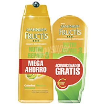 Fructis Garnier Champú Nutri Repair 3 Bote 300 + Acondiconador