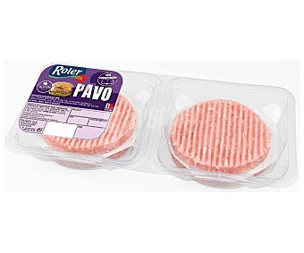 Roler Bandeja de burger meat de pavo, elaboradas sin gluten 4 x 80 g