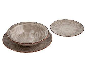 QUID Vita Vajilla de 18 piezas de color gris perla fabricado en gres, QUID.