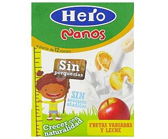 Hero Baby Alimento Infantil con Zumo de Frutas Variadas a Base de Leche Nanos 200ml