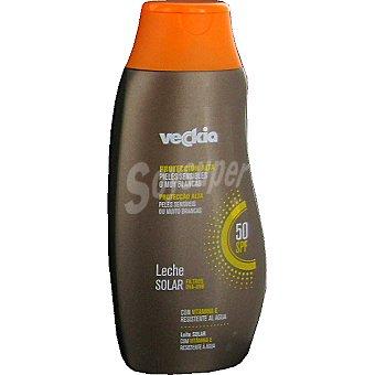 Veckia Leche solar con vitamina E FP-50 piel sensible Frasco 250 ml