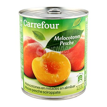 Carrefour Melocotón en almíbar extra 480 g