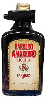 BARBERO Licor amaretto Botella 700 cc