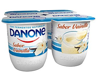 Danone Yogur con sabor a vainilla, realizado con fermentos naturales 4 x 120 g