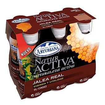 Central Lechera Asturiana Naturactiva con jalea real Pack 6x100 g