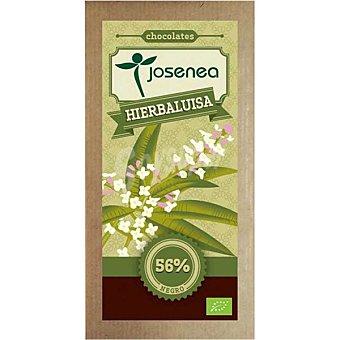 JOSENEA Chocolate negro con hierbaluisa 56% cacao Bio  tableta de 100 g