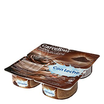 Carrefour Natillas sabor chocolate con leche - Sin Gluten Pack de 4x130 g