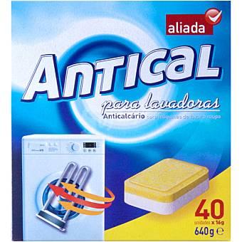 Aliada Antical para lavadora en pastillas Caja 40 pastillas