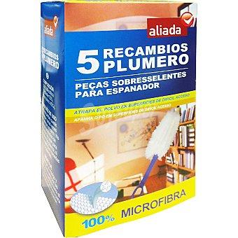 Aliada Plumero atrapa polvo microfibra recambio 5 unidades