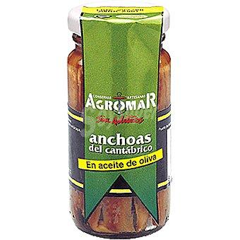 Agromar Filetes de anchoa en aceite de oliva Frasco 60 g neto escurrido