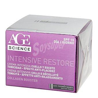 Les Cosmétiques Crema facial día cara y cuello y escote SPF 15 - Science Age Intensive Restore 50 ml