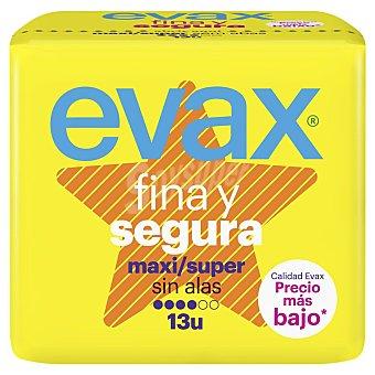 Evax Fina y Segura compresa maxi sin alas Bolsa 13 unidades