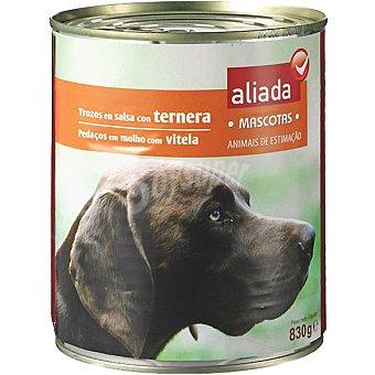 Aliada Alimento completo con ternera en salsa para perro Lata 830 g