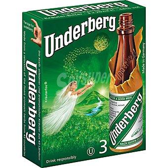 UNDERBERG Licor de hierbas digestivo Pack 3 botellas 20 cl