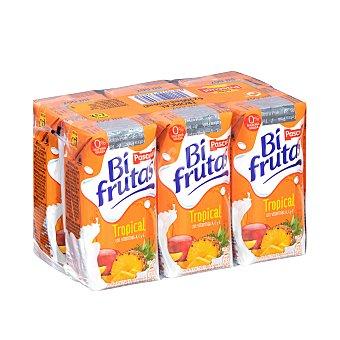 Bifrutas Pascual Leche con zumo de frutas tropicales 6 x 200 ml