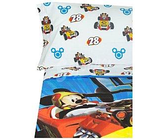 Mickey Disney Juego de funda nórdica con 3 piezas 50% algodón para cama de 90cm. diseño Mickey Mouse, disney