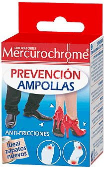 Mercurochrome Esparadrapo Prevención Ampollas, 2 m 5 cm Mercurochrome 2 m