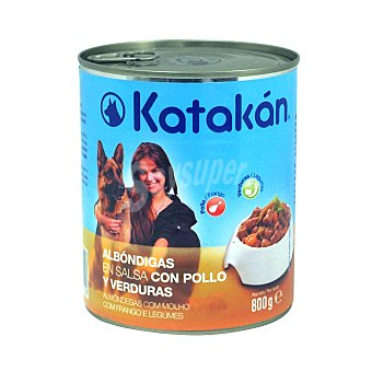 Katakán Comida húmeda para perros adultos albóndigas pollo Lata 800 g