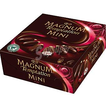 Magnum Frigo Helado de vainilla y chocolate con salsa de arándanos Temptation Mini Fruits 6 unidades estuche 300 ml 6 unidades