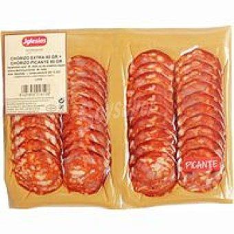 Iglesias Chorizo dulce extra-chorizo picante extra Pack 2x80 g