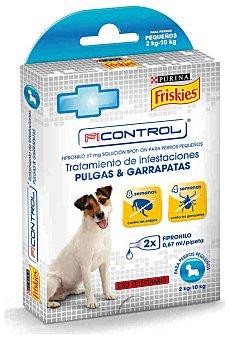 Purina Friskies Pipetas insect. perro pequeño fipronil Pack 2x0,67 ml