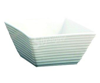 Quid Bol cuadrado fabricado en porcelana blanca especial para cremas modelo Gastro Fresh, 13,5x13,5 centímetros 1 unidad