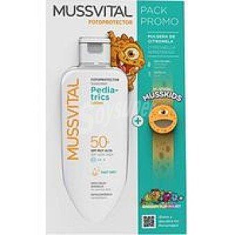 FP 50+ MUSSVITAL Pediatric leche Bote 300 ml + Pulsera Musskids