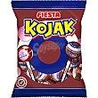 Kojak caramelo de cola relleno de chicle con palo 7 unidades bolsa 105 g bolsa 105 g Fiesta