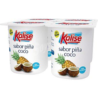 Kalise Yogur sabor piña-coco pack 4 unds. 125 g Pack 4 unds. 125 g