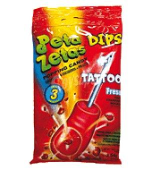 Miguelañez Peta Zetas Dips + Tatoo Fresa 21 g